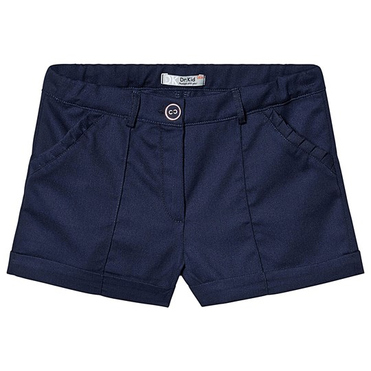 Dr Kid Navy Cotton Ruffle Pocket Shorts 280
