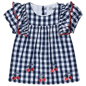 Image of Dr Kid Gingham Cherry Top Navy 3 years (3138206785)
