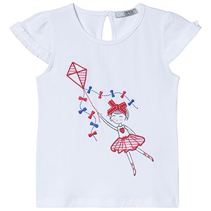 Image of Dr Kid Ballerina Tee White 6 months (3138206801)