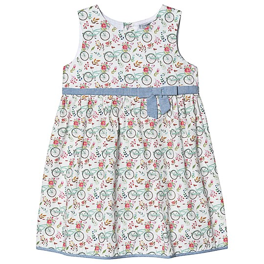 Dr Kid Multi Bicycle Print Summer Dress with Bow 840