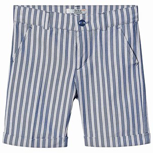 Image of Dr Kid Blue Multi Stripe Cotton Shorts 12 mdr (1249686)
