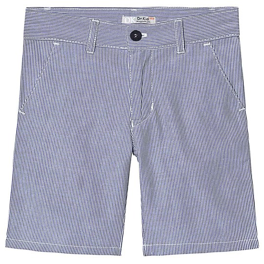 Dr Kid Blue and White Stripe Cotton Shorts 280