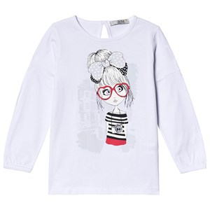 Image of Dr Kid Hvid Graphic Long Sleeve T-Shirt 5 år (1249809)