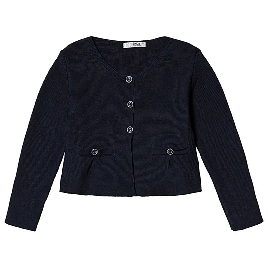 Dr Kid Navy Knitted Button Detail Cardigan 280