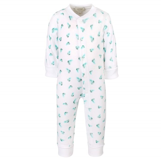 Livly Feather Overall White/Green Green
