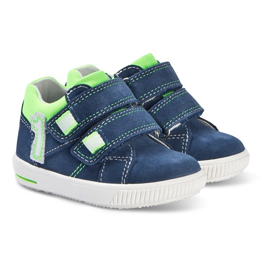 Superfit Moppy Sneakers Blå/Grön Blue/Green