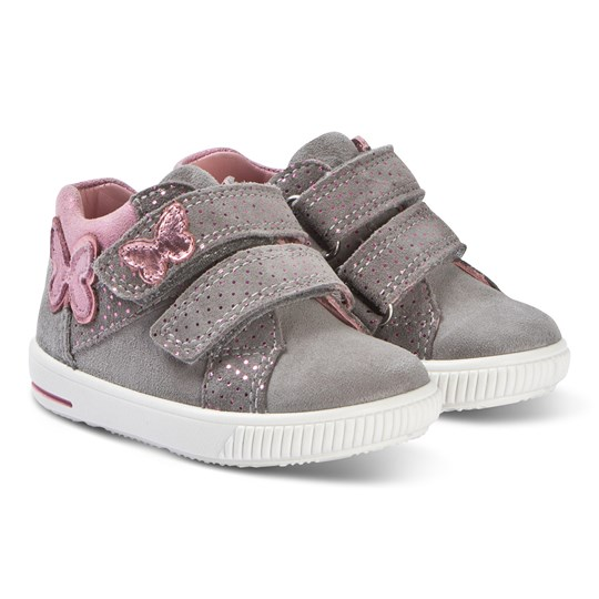 Superfit Butterfly Moppy Sneakers Ljusgrå Lightgrey