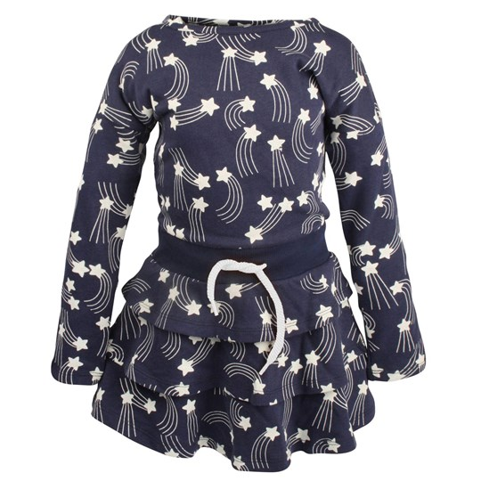 Mini Rodini Star Dress DK Blue Blue
