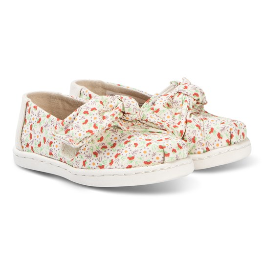 Toms Bow Tiny TOMS Classics Birch Local Floral Print Natural