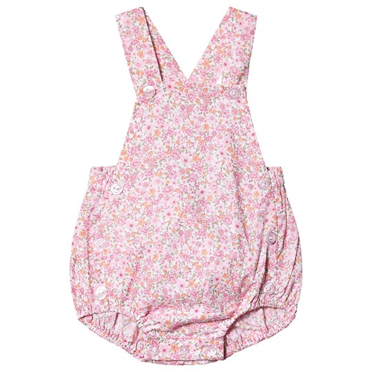 Dr Kid Floral Print Button Romper Pink 252
