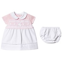 0a74c9331e24 Dr Kid Pink Knitted Collar Dress with Bloomers 252