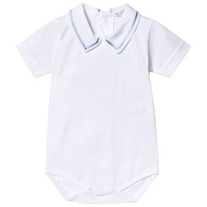 Image of Dr Kid Embroidered Baby Body White 1 month (3139023233)