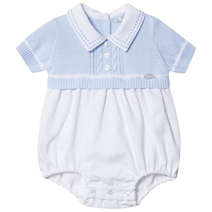 Image of Dr Kid Knitted Romper Blue 1 month (3139023269)