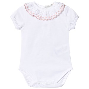 Image of Dr Kid Embroidered Baby Body White 1 month (3139023177)