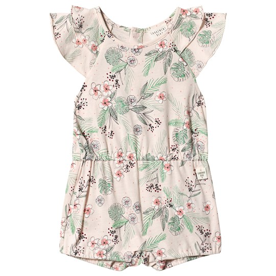 Carrément Beau Multi Floral Print Romper with Ruffle Sleeves 45B