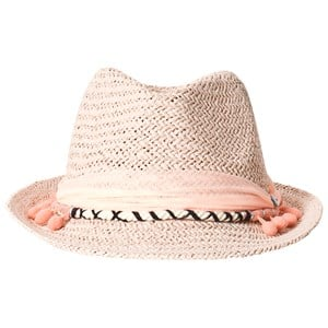 Image of IKKS Straw Hat Pom Pom Pink 56cm (12-14 years) (3139025191)