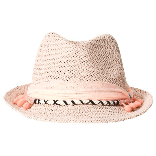 IKKS White Trilby With Pink Palm Tree Detail 32