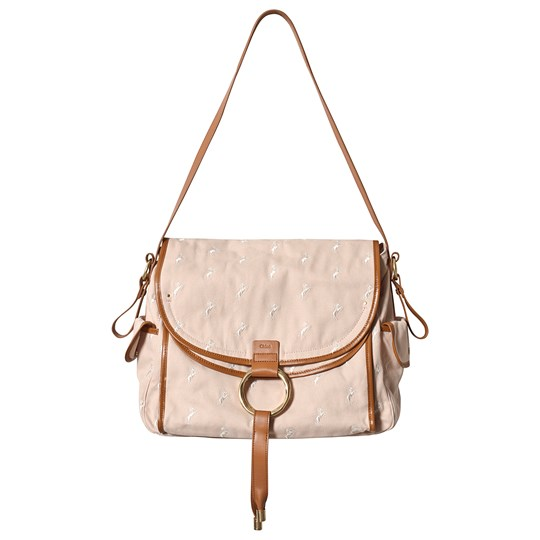 Chloé Tan Horse Print Changing Bag with Leather Trim and Mat 152