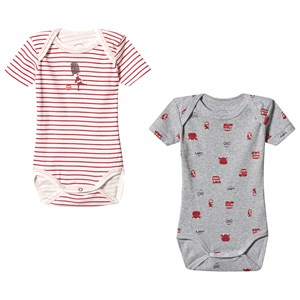 Image of Absorba London Baby Body 2-Pack White and Grey 12 months (3139024239)