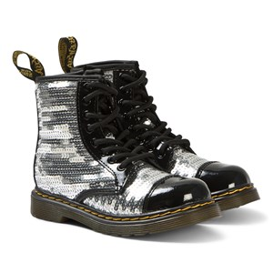 Image of Dr. Martens 1460 Sequin Boots Silver 28.5 (UK 10.5) (3139023331)
