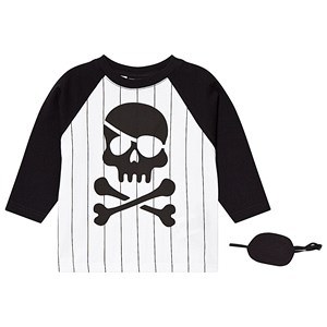 Image of Yporqué Pirate Long Sleeve Tee Baseball Stripes 4 år (1319737)