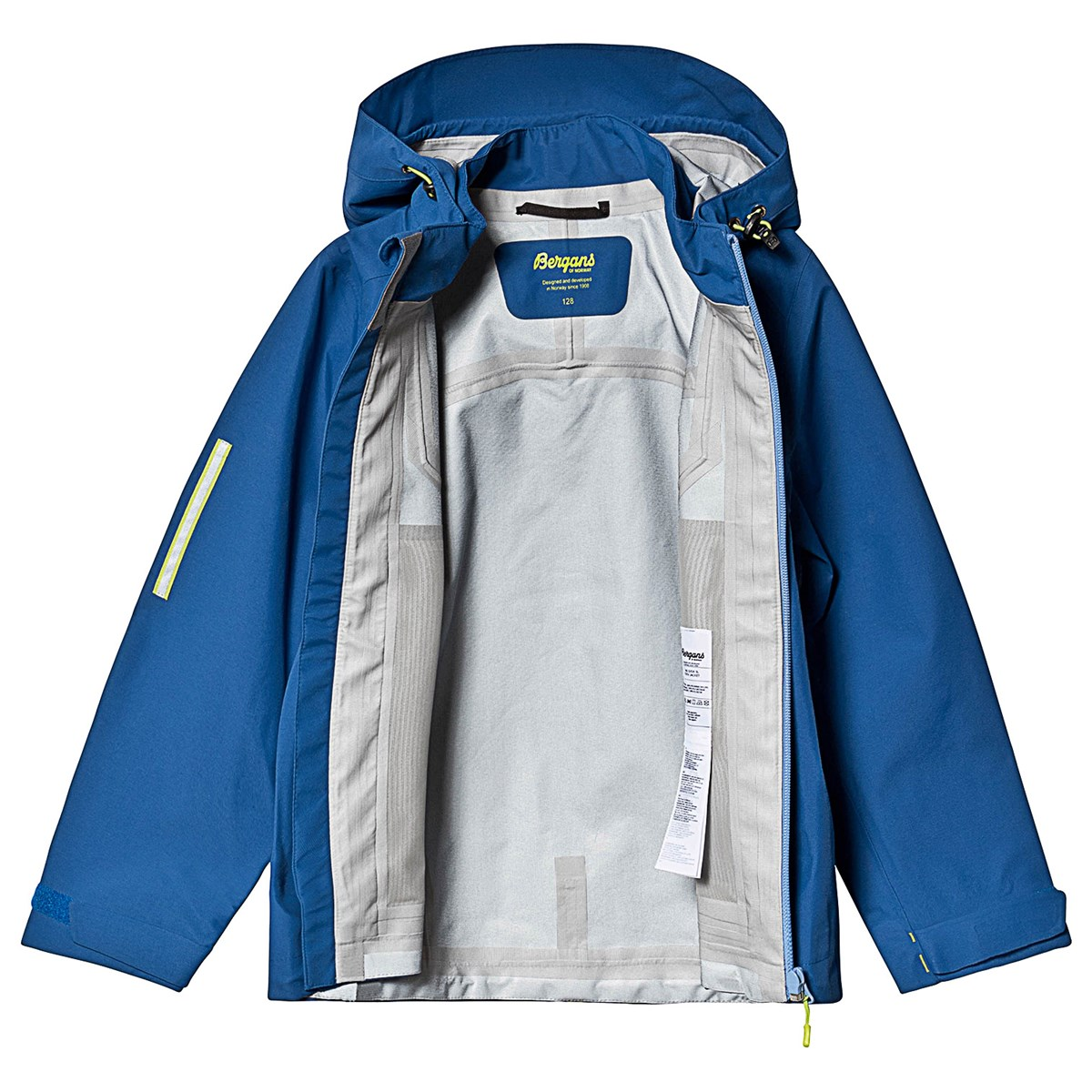 acc93117 Bergans - Sjoa 3L Youth Jakke Blue Cloud - Babyshop.no