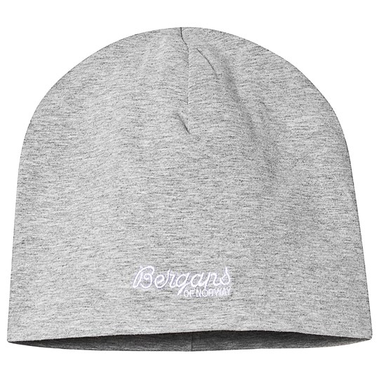 Bergans Kids Cotton Beanie Grey Grey Mel