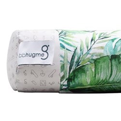 bbhugme Extra Cover for Nursing Pillow Green Leaf 1 pack