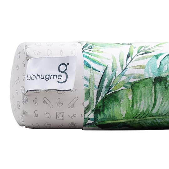 bbhugme Extra Cover for Nursing Pillow Green Leaf 1 pack Green Leaf