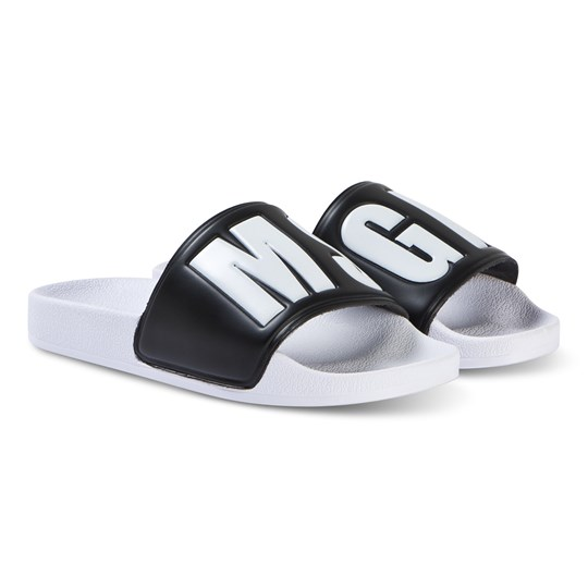 MSGM Black with White MSGM Logo Sliders 110/´09