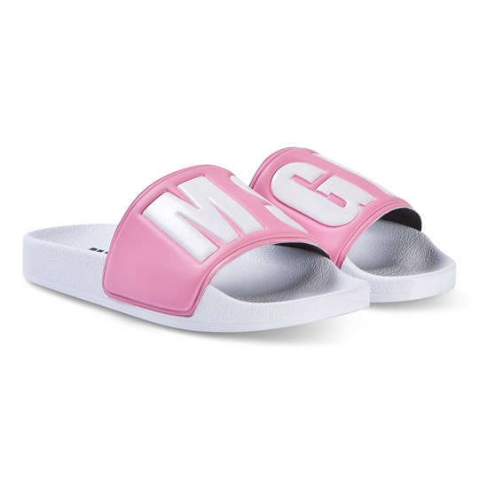 MSGM Pink with White MSGM Logo Sliders 42
