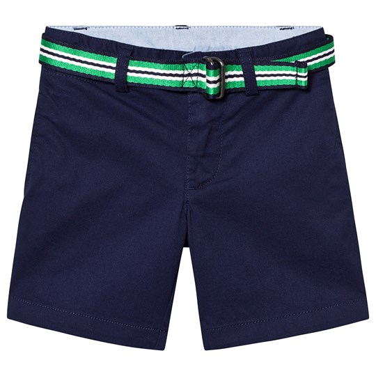 Ralph Lauren Navy Belted Chino Shorts 005