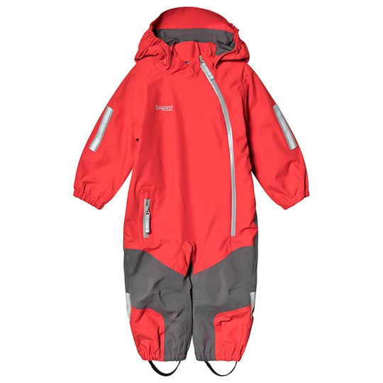 Bergans Lilletind Kids Coverall Fire Red Solid Dk Grey SolidLightgrey FireRed/SolidDkGrey/SolidLtGrey