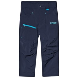 Bergans Lilletind Light Softshell Kids Pant Navy Polar Blue Light Polar Blue