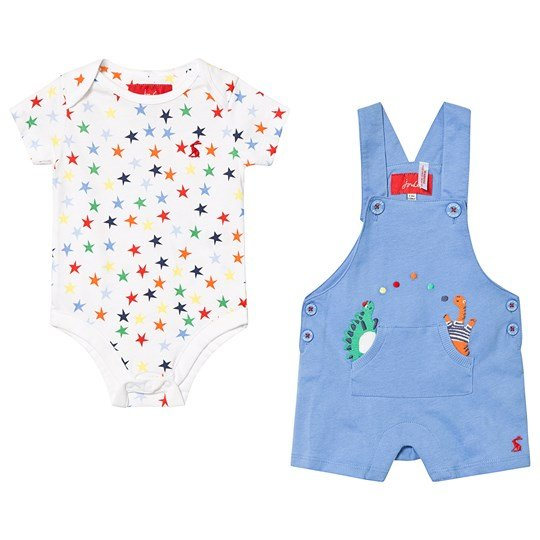 Tom Joule Blue and White Star Body and Dungaree Blue Dino Star Dungaree