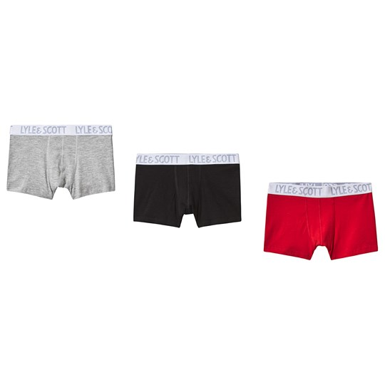 Lyle & Scott 3-pack Boxershorts Grå/Svart/Röd 990-MULTI COLOURED