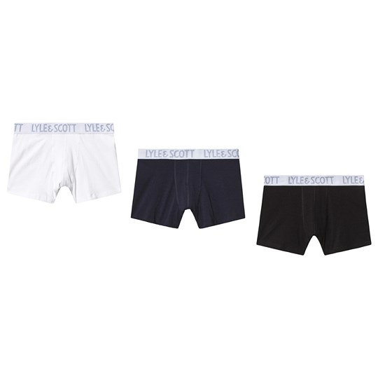 Lyle & Scott Black and White Pack of 3 Boxers 990-MULTI COLOURED