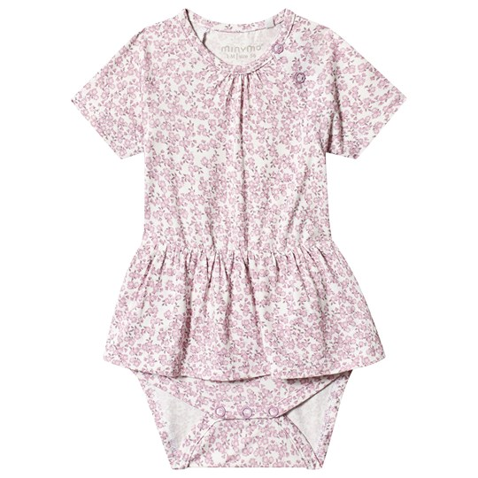 Minymo Body/ Dress Ss Mauve Mist Mauve Mist