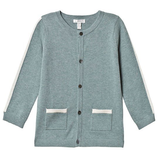 Livly Round Neck Cardigan Forest Green Forest Green