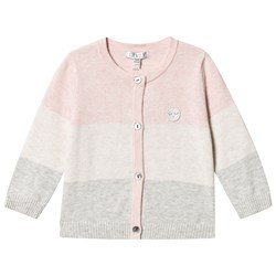 Livly Round Neck Cardigan Pink / Cream / Grey