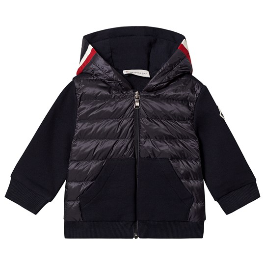 Moncler Navy Down Front Hooded Maglia Cardigan 778