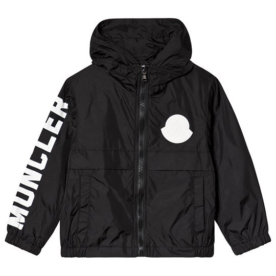 Moncler Black Saxophone Hooded Logo Windbreaker 999