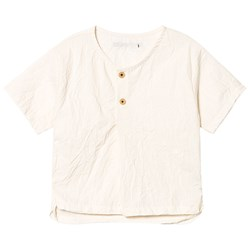 Little Creative Factory Off White Button Front Washi Long Shirt
