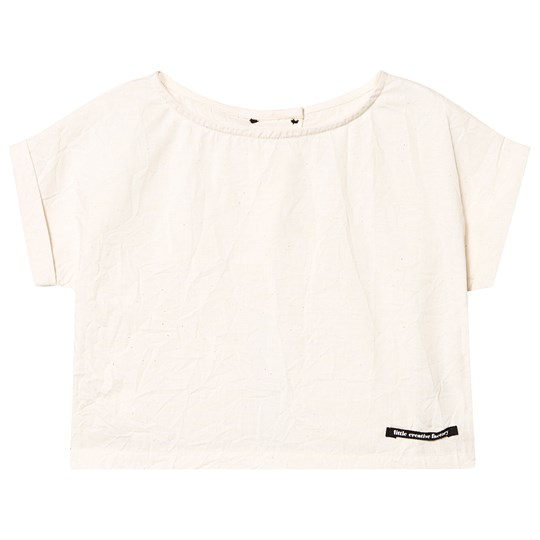 Little Creative Factory Off White Open Back Washi Top Off white