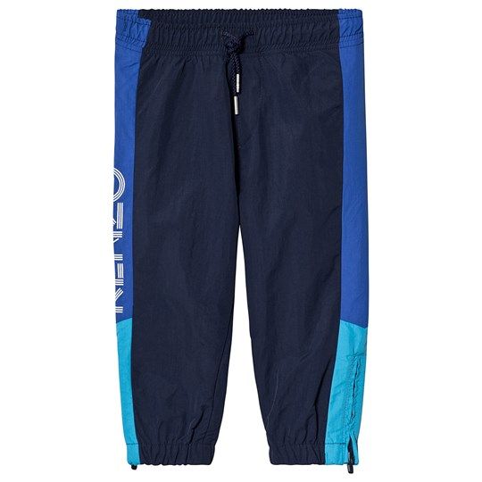 Kenzo Navy and Blue Panelled Logo Track Pants 49
