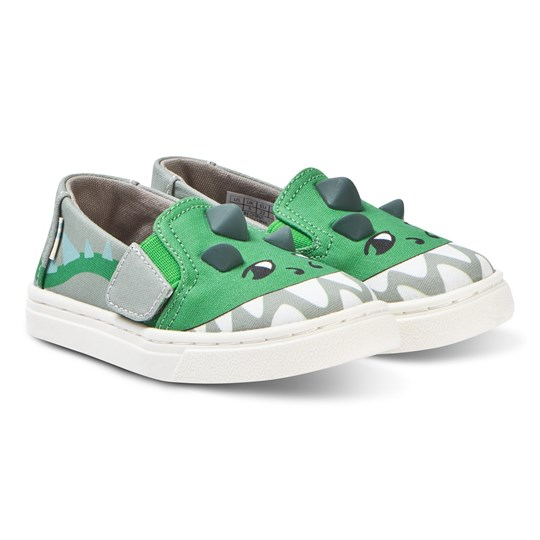 f23be18636f Toms - Luca Glow-In-The-Dark Tiny TOMS Grey Dino - Babyshop.com
