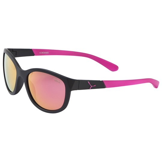 Cebe Black with Pink Lense Katniss Sunglasses MATT BLACK PINK
