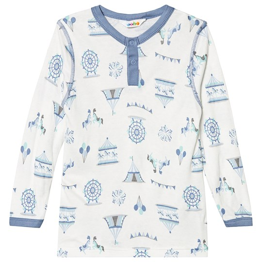 Joha Long-sleeved Tee Cream Merry go Blue