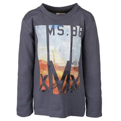 Mexx Kids Boys LS t-shirt Heron Blue