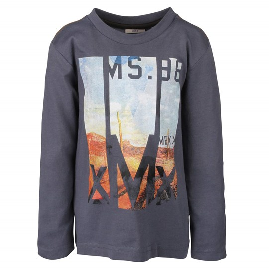 Mexx Kids Boys LS t-shirt Heron Blue Blue
